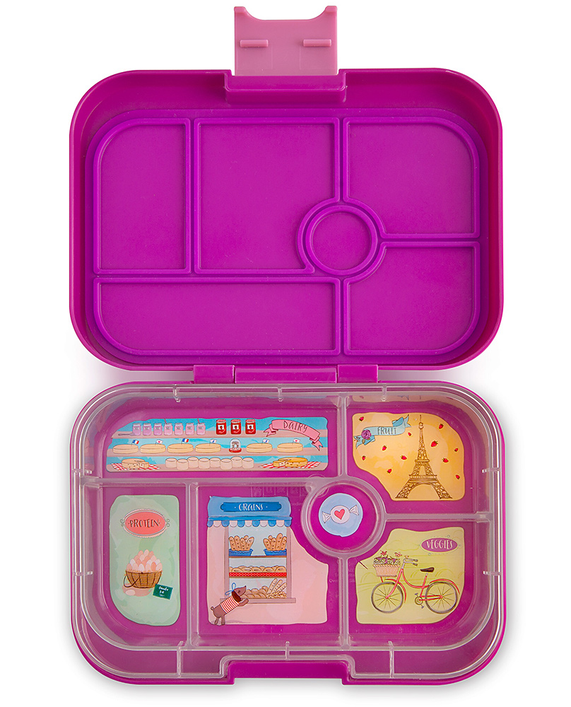 yumbox original bentobox mit 6 auslaufsicheren f chern. Black Bedroom Furniture Sets. Home Design Ideas