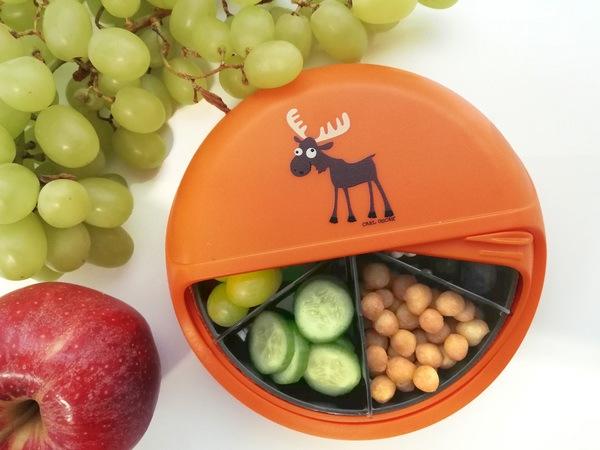 Carl Oscar SnackDISC - Kinder Snackbox mit 5 Fächern